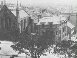 The former convent, on the corner of Grosvenor and Harrington Streets, now the residence for the Marist community at St Patrick's
